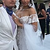 She Styled Her Wedding Dress With a Diamond Necklace by Lorraine Schwartz
