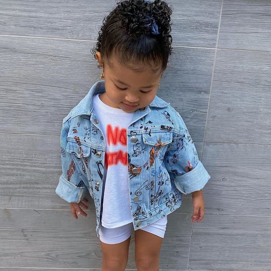 Stormi Webster Wearing White Biker Shorts