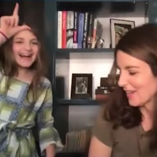 Watch Tina Fey's Daughter Crash Her Seth Meyers Interview