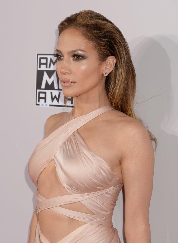 Jennifer Lopez's Slicked Back Hair in 2014