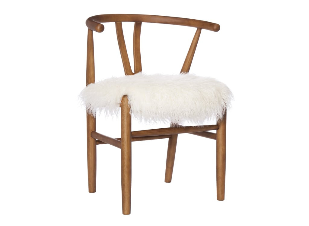 Incroyable White Wishbone Accent Chair ($130)