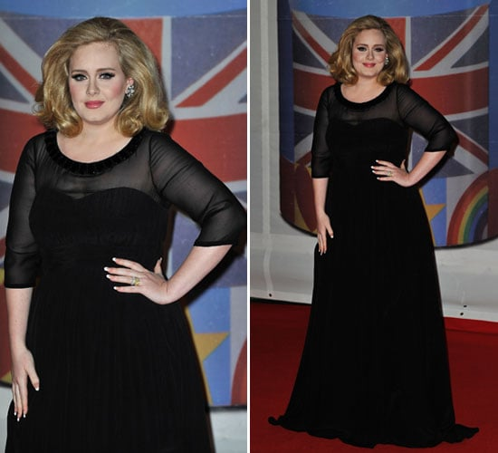 Pictures of Adele Wearing Burberry on the 2012 Brit Awards Red Carpet