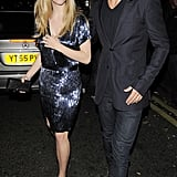 Dominic Cooper, James Corden and Amanda Seyfried at Groucho