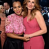 Kerry Washington and Julia Roberts were pretty in pink at the SAG Awards.
