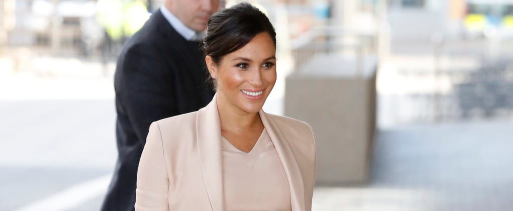 Meghan Markle Pink Brandon Maxwell National Theatre Jan 2019