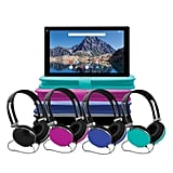 Quad-Core Tablet With Android With Keyboard Folio Case and Headphones