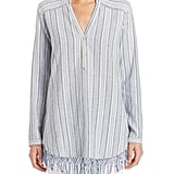 Calypso St. Barth Evsiba Striped Linen Tunic