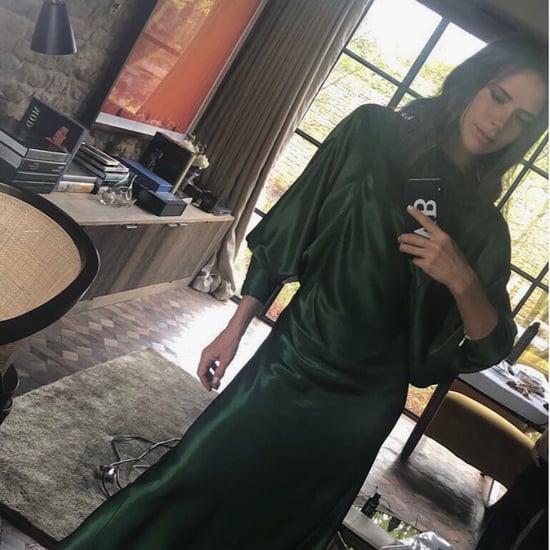 Victoria Beckham Green Backless Dress