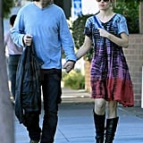 Rachel McAdams and Michael Sheen went for a LA walk.