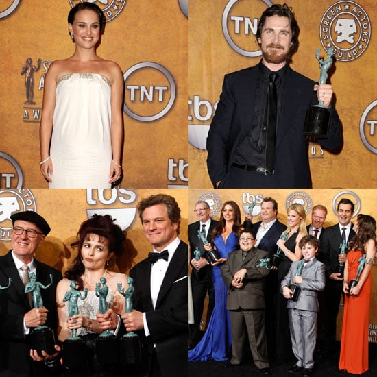 Pictures of The King's Speech Stars, Natalie Portman, the Cast of Modern Family in the 2011 SAG Awards Press Room 2011-01-31 08:20:24