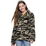 madden NYC Zip Front Sherpa Jacket