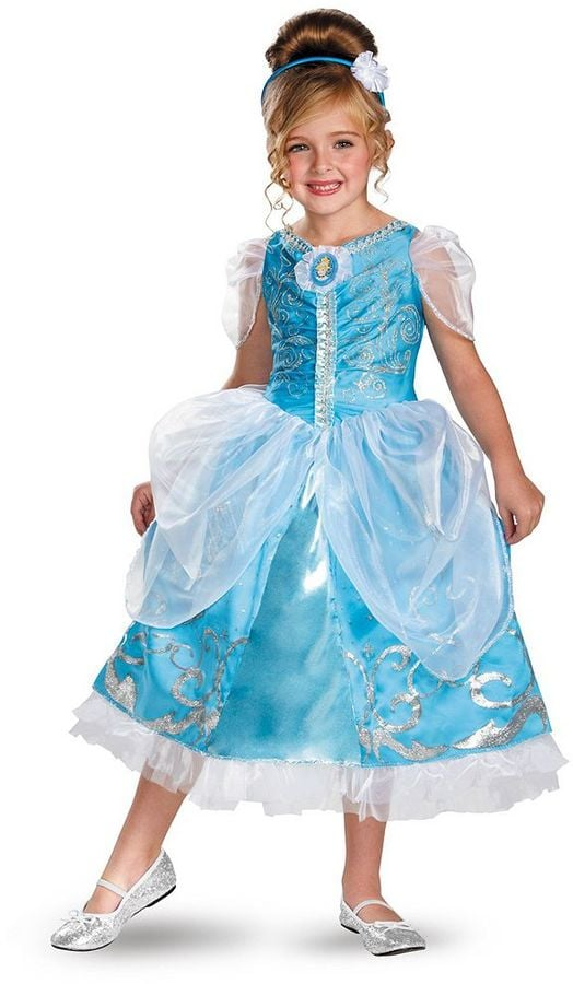 Disney Princess Cinderella Deluxe Sparkle Costume  sc 1 st  Popsugar : deluxe cinderella costume for adults  - Germanpascual.Com