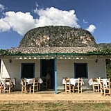 The restaurant pictured here is called Ranchón Cuajani, and it's located in Viñales Valley, about three hours outside of Havana. We were treated to a delicious lunch (and guarapo — freshly squeezed sugarcane juice) before biking our way to our next destination.   Paladares can be found nearly everywhere you go in Cuba now, so be on the lookout!