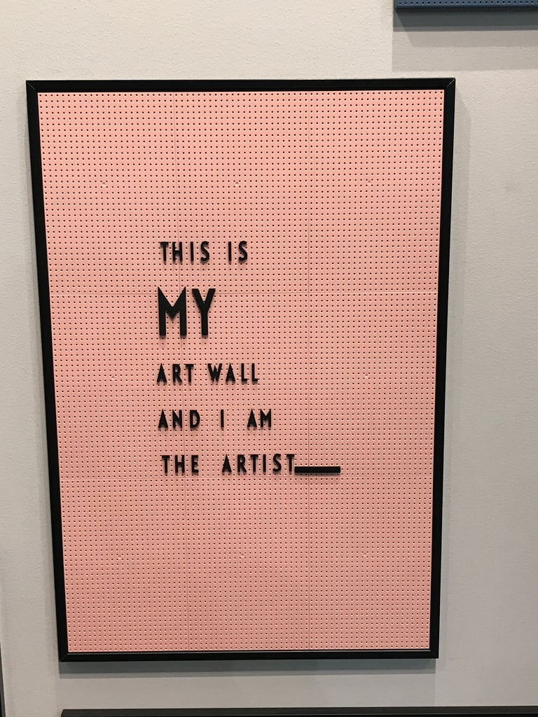 Even letter boards have been given the millennial pink treatment, like this one Nancy spotted.