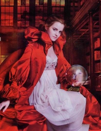 emma watson is the Wizard of Harpers bazaar october 2008 issue