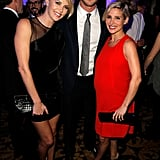 Charlize Theron met with Chris Hemsworth and Elsa Pataky.