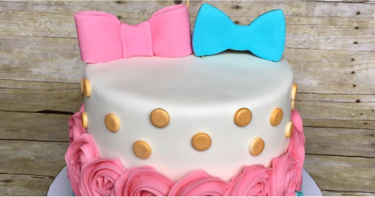 Gender Reveal Party Cakes Popsugar Family