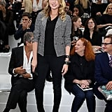 Kate Upton sat in the front row at Chanel.
