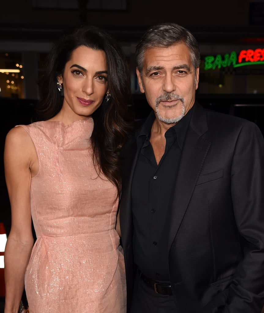 George Clooney had the support of his beautiful wife, Amal, at the LA premiere of his new film Our Brand Is Crisis on Monday. George, who produced the movie along with Grant Heslov, looked incredibly dapper in a black suit as he posed for photos with Grant and Amal. While on the red carpet, George also shared a few laughs with Billy Bob Thornton, who stars in the Autumn drama alongside Sandra Bullock.  October has been quite the busy month for George, who recently returned from London after attending the launch party for pal Cindy Crawford's new memoir, Becoming. Just last week, George was all smiles when he and Amal stepped out in LA looking like their own rays of sunshine. Keep reading to see more snaps from George's big night, then check out the trailer for Our Brand Is Crisis, which comes out in cinemas on Oct. 30.