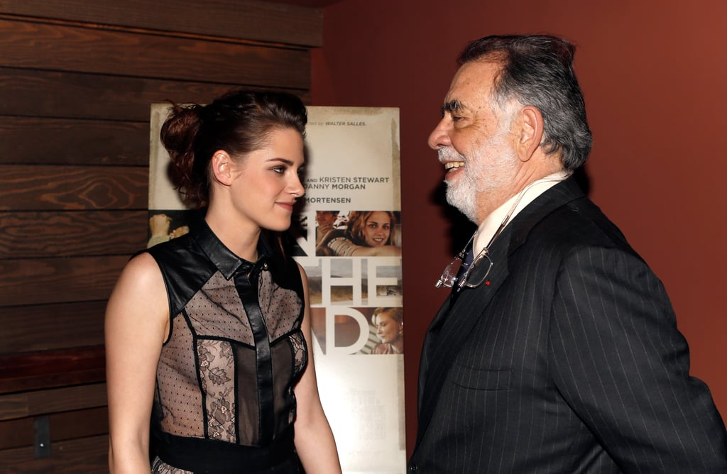 Kristen Stewart  and Francis Ford Coppola chatted at the On the Road screening in LA.
