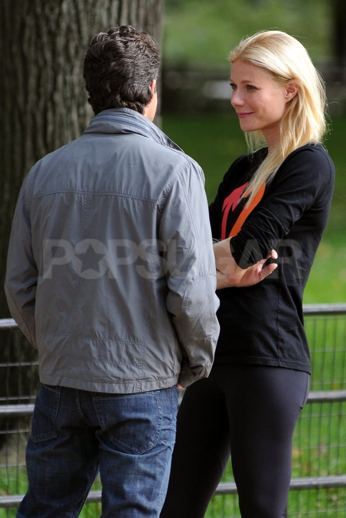 Gwyneth Paltrow and Mark Ruffalo chatted.