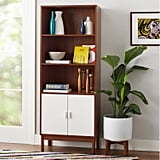 Novogratz Baxter 5 Shelf Bookcase With Doors