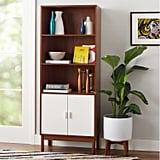 Novogratz Baxter 5 Shelf Bookcase With Doors