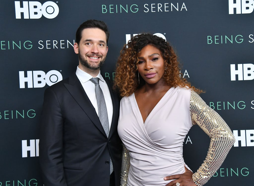 Photos of Serena Williams and Alexis Ohanian