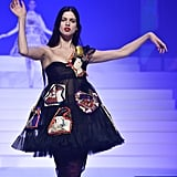 Lily McMenamy on the Jean-Paul Gaultier Runway