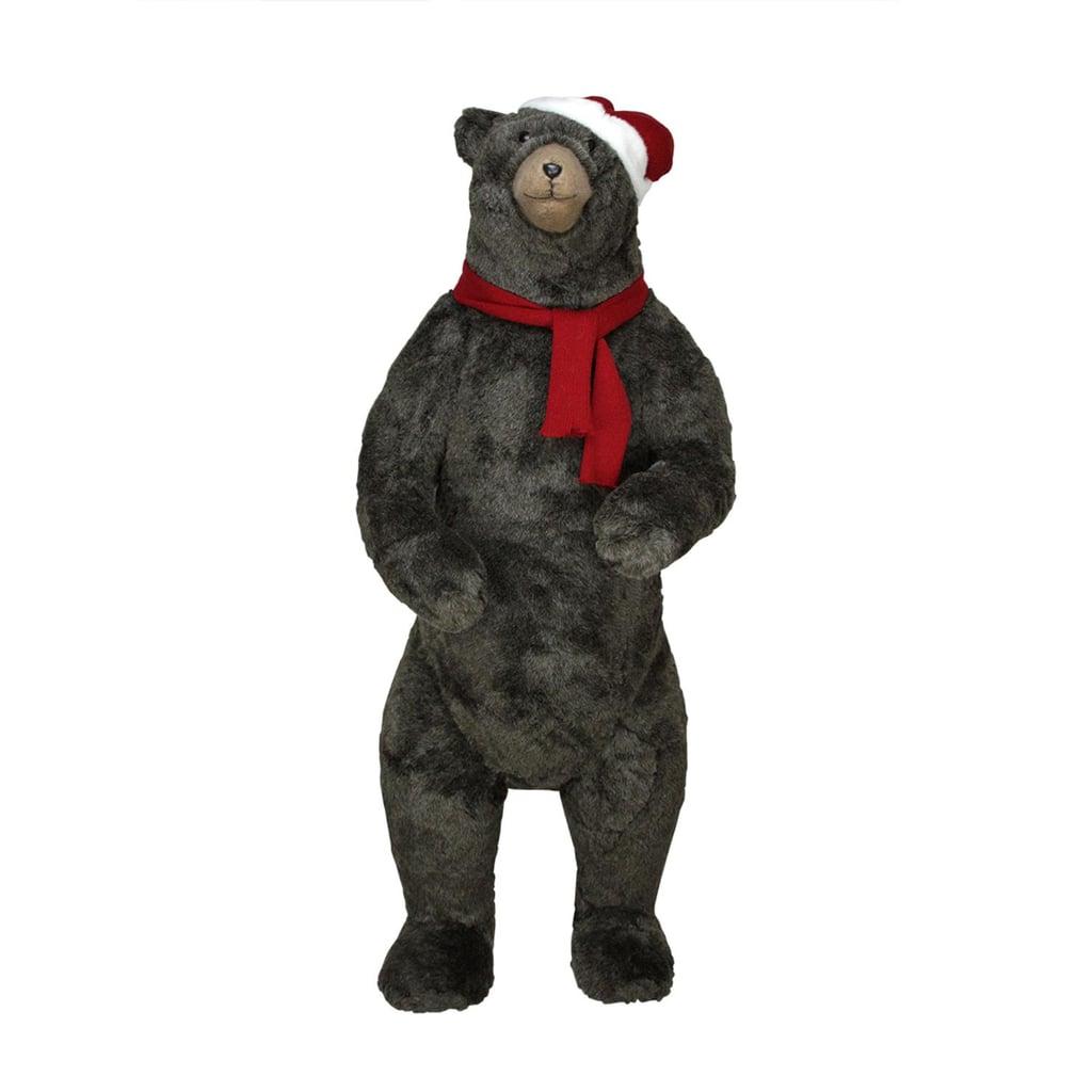Life-Sized Standing Plush Brown Bear