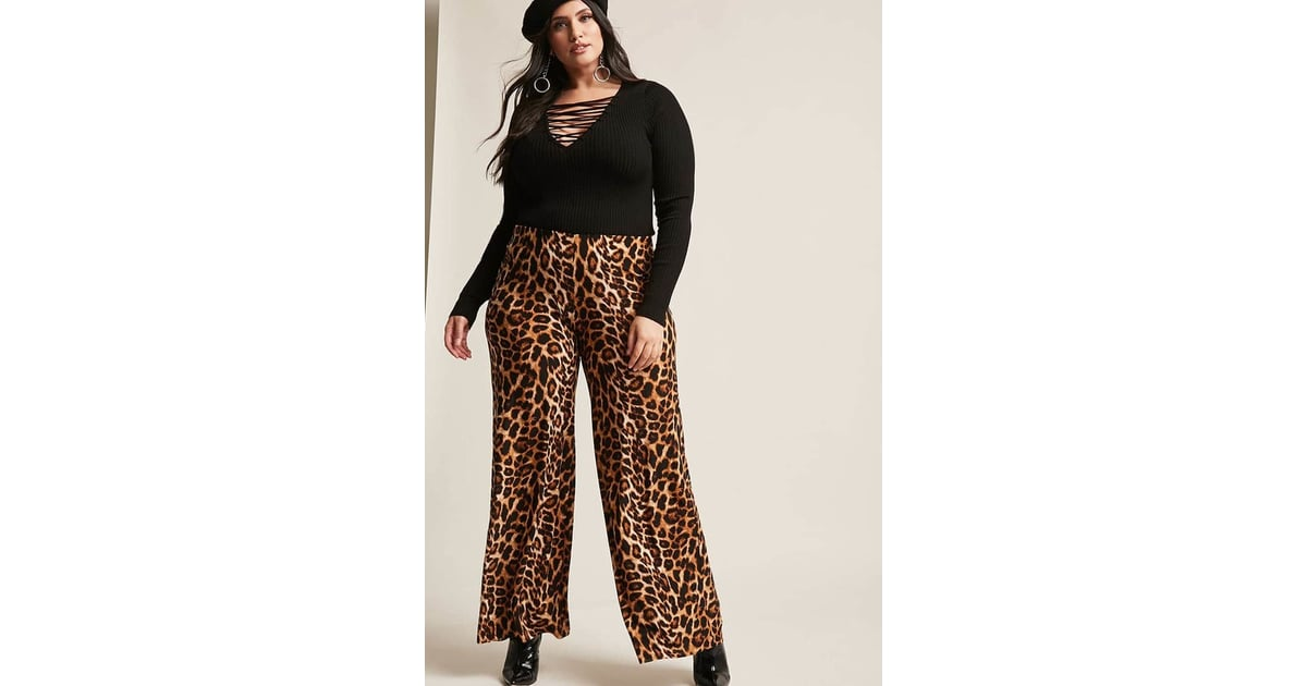 Forever 21 Leopard Print Palazzo Pants Blake Lively