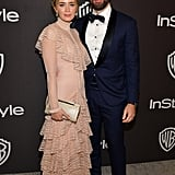 Emily Blunt and John Krasinski at the 2019 Golden Globes Afterparty