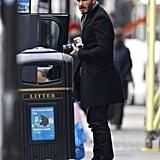 David Beckham played photographer in London on Thursday.