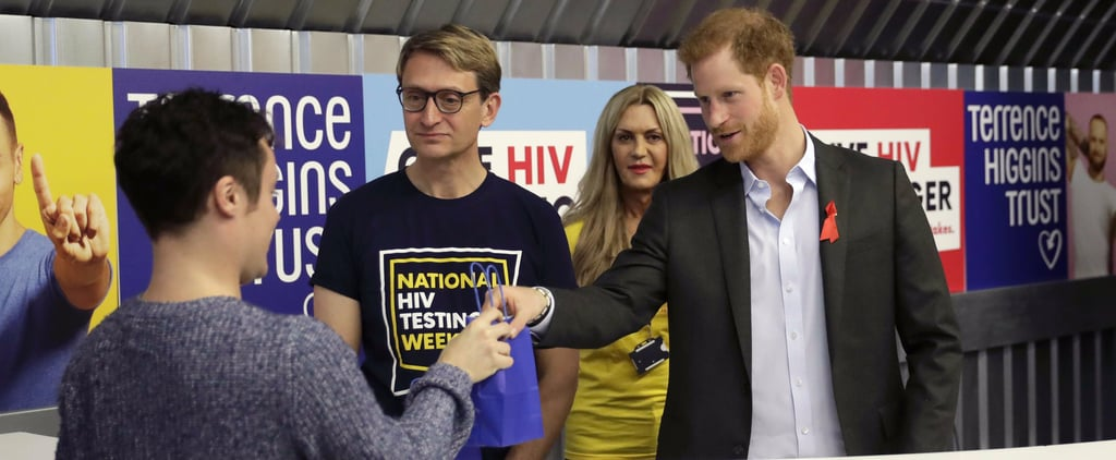 Prince Harry Follows in Princess Diana's Footsteps, Hands Out HIV Self-Testing Kits in London