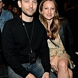 Pictured: Tobey Maguire and Jennifer Meyer