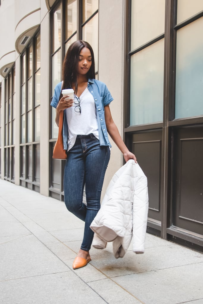 Pair denim on denim for a casual, yet elevated, office look