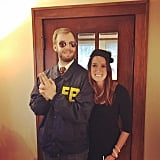 Andy Dwyer and April Ludgate as Burt Macklin, FBI, and Janet Snakehole From Parks and Recreation