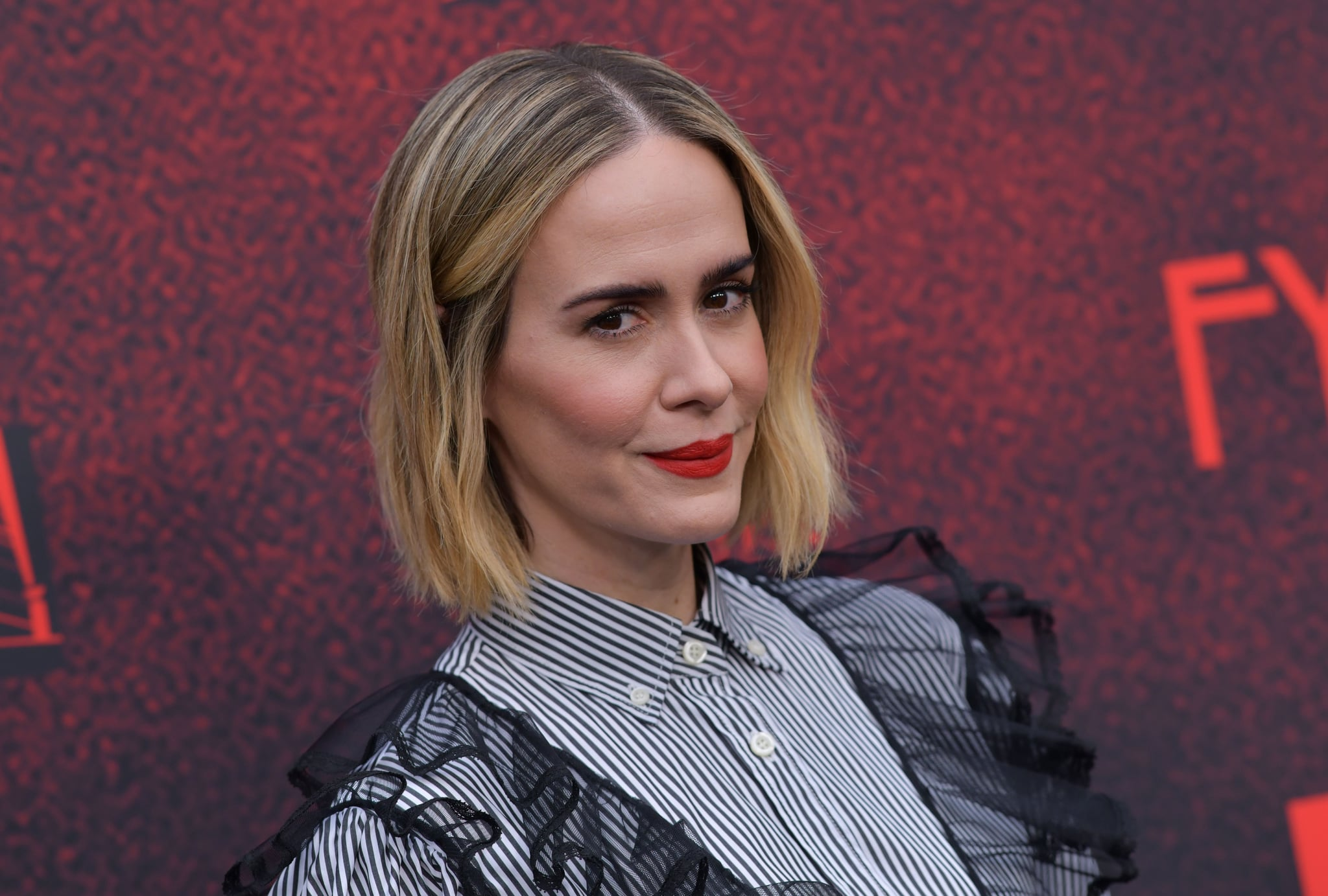 US actress Sarah Paulson arrives for 20th Century Fox Television/FX's