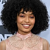 Yara Shahidi With Curly Bangs