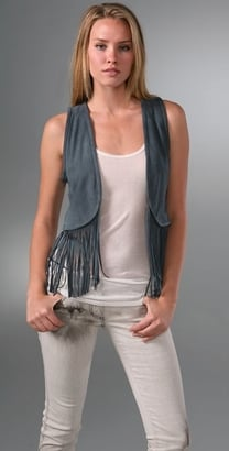 The Look For Less: Torn by Ronny Kobo Maggie Suede Fringe Vest