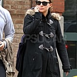 Natalie Portman Looks Ready to Pop During a Day Out With Benjamin