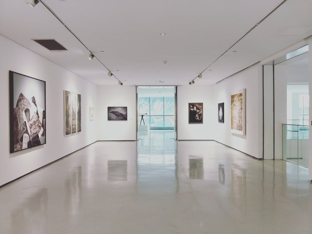 Visit art galleries in your city.