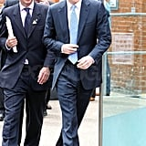 Prince Harry heads to a horse race.