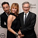 Bruce got his revenge by photobombing Steven and Kate Capshaw.
