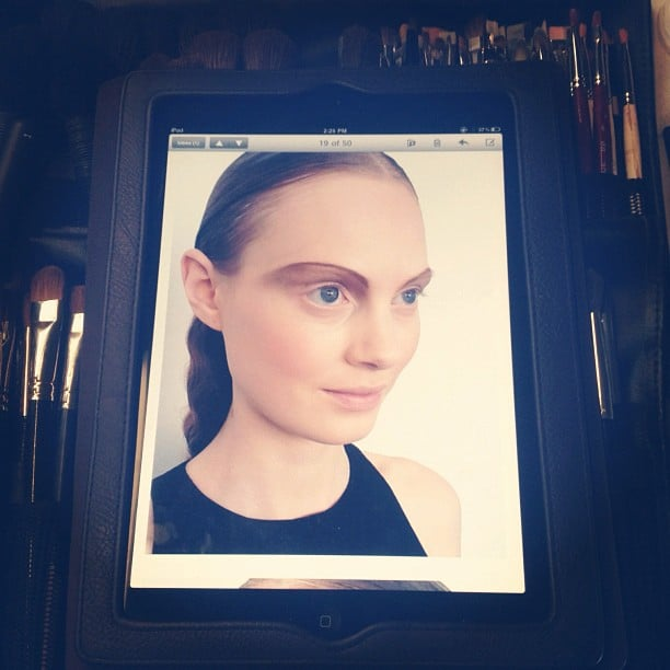 Some people prefer bushy brows, but these thin eyebrows were all the rage at Thakoon.
