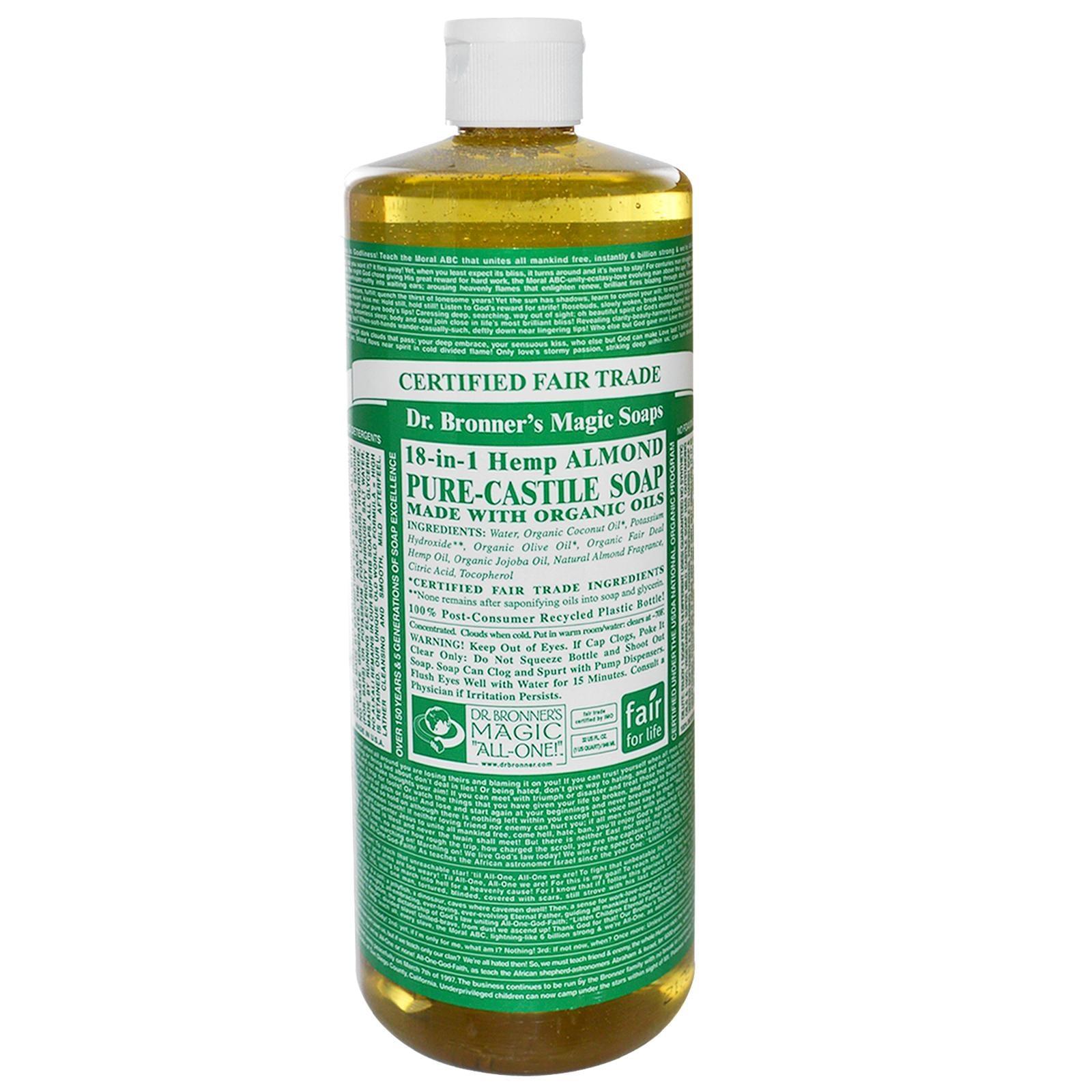 Dr. Bronner's Almond Liquid Castile Soap