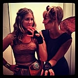 FitSugar's Lizzie went as Daenerys Targaryen, and one of her friends coordinated to be a dragon.