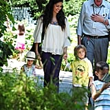 Camila enjoyed an afternoon with her kids.