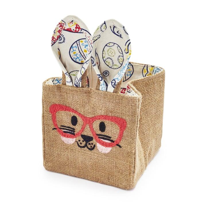 Jute Bunny Basket