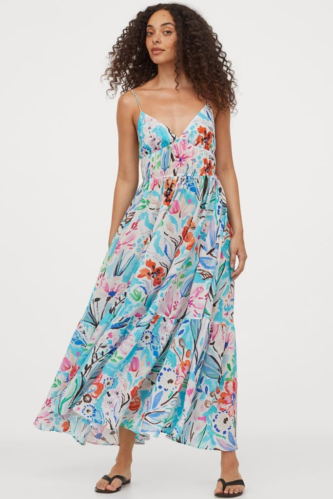 H&M Textured-Weave Maxi Dress